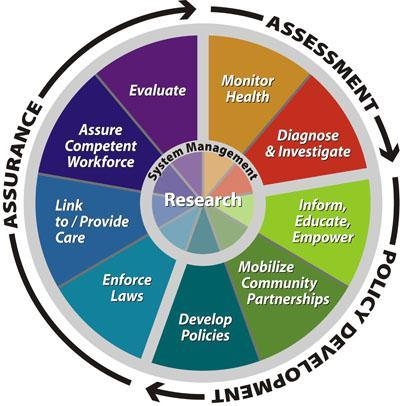 Assurance, Assessment, Policy Development Pie Chart