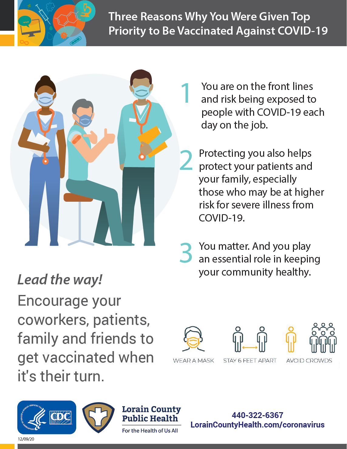 three reasons why you were given top priority to be vaccinated against COVID-19